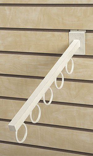 Count of 10 Boutique Waterfall for Slatwall - Ivory Finish Square Tube [video game] [video ()