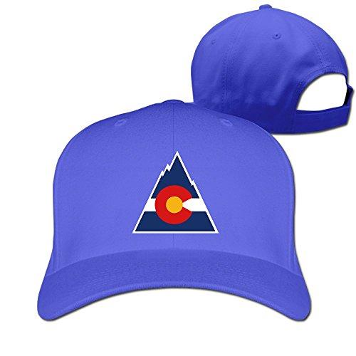 Classic Colorado Flagtriangle Moutain Flex Bill Hats Boys Peaked Adjustable RoyalBlue (Vineyard Vines Men Hats)