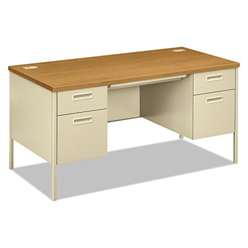 - HON Metro Classic Double Pedestal Desk - 2 Box Drawers with 2 File Drawers, 60