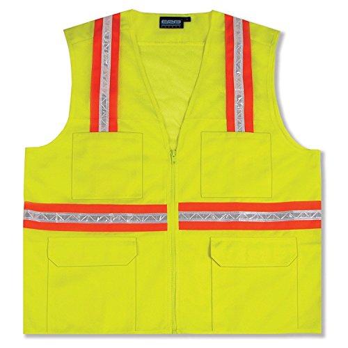 National Safety Apparel V20TV2VXL Contractor Class 2 FR Hi-Vis Safety Vest, X-Large, Fluorescent Yellow by National Safety Apparel Inc B00ZC914EA