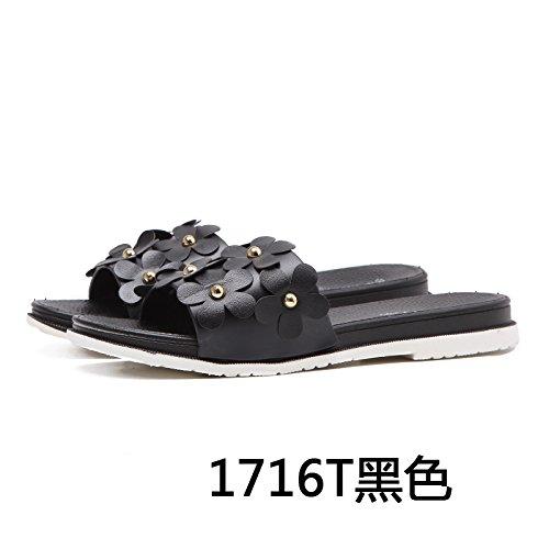 da piscina Semplice antislittamento black per moda pantofole scarpe YMFIE outdoor punta scarpe spiaggia traspirante l'estate v4wHx17dq