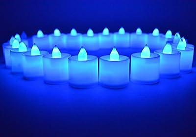 Samyo Set of 24 Battery Flameless & Smokeless LED Tealight Candles Candlelight
