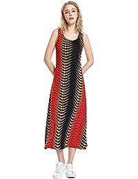 Women's Summer Scoop Neck Casual Sleeveless Long Dress Racerback Tank Top Maxi Dresses