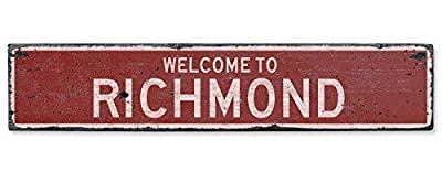 Welcome to Richmond Vintage US Richmond, Kentucky Distressed Custom Wooden City Sign Home Craft Plaque Sign Housewarming Gift