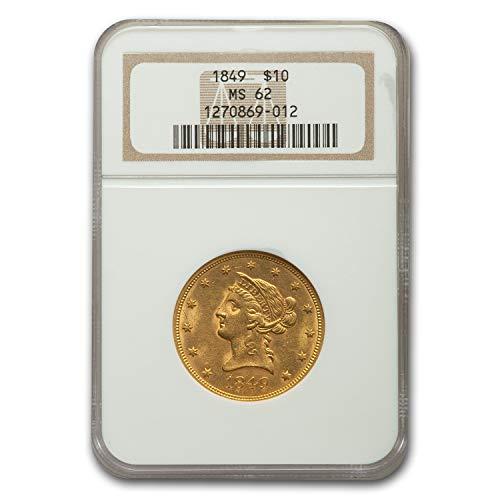 1849 $10 Liberty Gold Eagle MS-62 NGC G$10 MS-62 NGC
