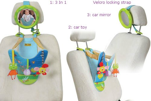 Taf Toys In-Car Play Center | Parent And Baby's Travel Companion, Keeps Both Relaxed While Driving, Mirror To Watch Baby From Driver's Seat, Enables Easier Drive And Easier Parenting. by Taf Toys (Image #1)