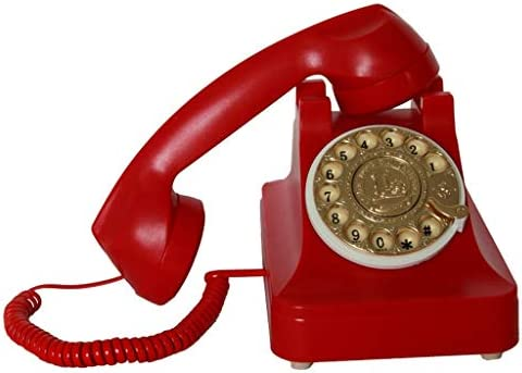 ZhuFengshop Teléfono Teléfono fijo antiguo Teléfono de época ...