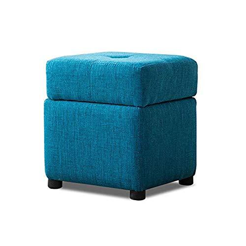 TONGSH 収納オットマンフットスツールボックス収納キューブフットレストスツール、収納胸、完璧なおもちゃと靴の胸、迅速かつ簡単な組み立て胸 (色 : 青, サイズ さいず : 30cm) B07PJNFJTR 青 30cm