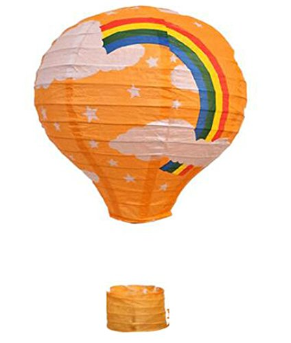 Birthday Party/Christmas/Easter/Mall Decoration Hanging Paper Lantern Hot Air Balloon 30cm(Orange)