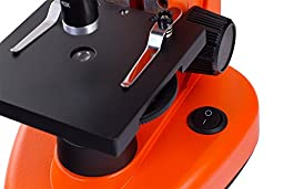 Levenhuk 50L NG Orange Microscope monocular 40-1280x bright color case with experiment kit