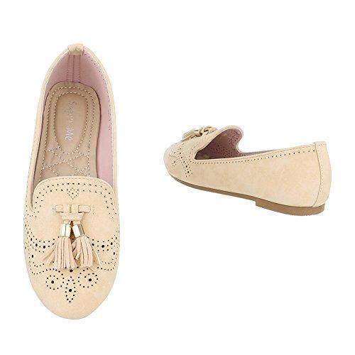 Ital-Design Zapatillas de casa Mujer, Color Blanco, Talla 38