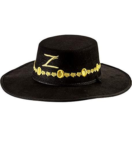 Female Zorro Halloween Costume (Rubie's Men's Zorro Deluxe Hat, Black, One)