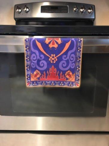 Placemat Magic Carpet Dish Towel Hand Towel Face Towel Tea Towel Inspired by Aladdin Magic Princess Whitney