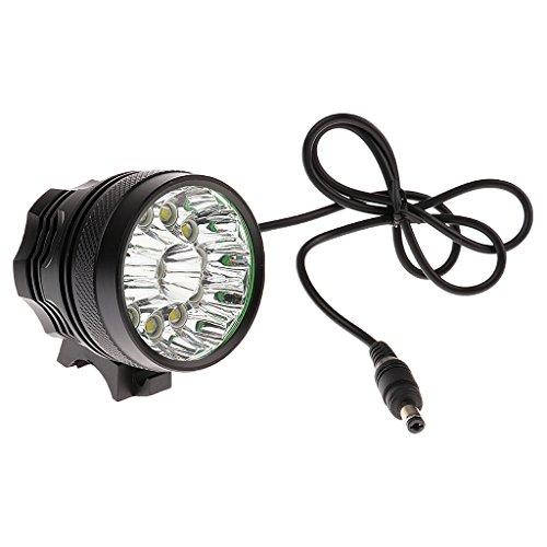 MonkeyJack XML T6 12 LED Head Front Light MTB Bicycle Light Bike Lamp Headlight Battery by MonkeyJack