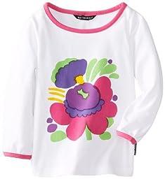 marimekko Baby Girls\' Poppa Long Sleeve Shirt, White, 12 Months