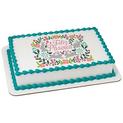Feliz Pascua Edible Icing Image for 8 inch round cake