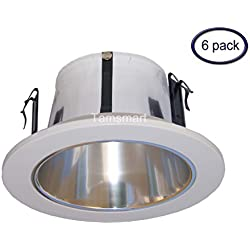 6 Pack--- 4 Inches Open Reflector Trim/trims for Line Voltage Recessed Light/lighting-fit Halo/juno