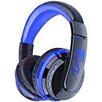 Bluetooth On the Ear Headphone, Actpe Wireless Stereo Noise Cancelling Headset with Microphone for iPhone 6S Plus iPad iPod, Samsung, Nexus, LG, Motorola, Android Cell Phone, Laptop/ Notebook - Blue