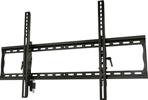 Crimson AV T63L Universal Tilting Mount with Lock for 37'' to 63''+ Flat Panel Screens, Black, 200lb (91kg) weight capacity, Depth from wall 2.2'' (55.8mm), Tilt +15°/-5°, High-grade cold rolled steel construction, Scratch resistant epoxy powder coat by Crimson AV
