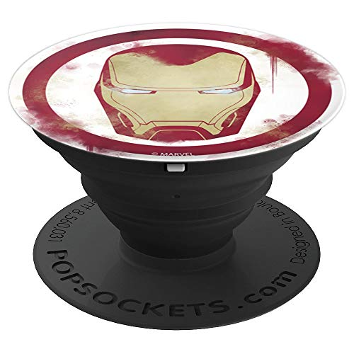 Marvel Avengers Endgame Iron Man Spray Paint Logo - PopSockets Grip and Stand for Phones and Tablets (Best Iron Man Game For Android)