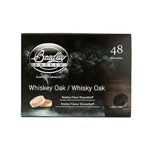 Bradley Technologies Whiskey Oak Special Edition Bisquettes (Pack of (Bradley Smoker Bisquettes)