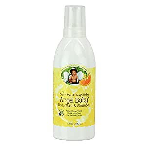 Earth Mama Angel Baby Body Wash & Shampoo Pure Castile Vanilla Orange Soap for Every Body Liter 34oz