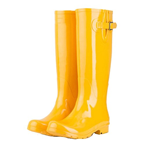 Boots Yellow 5 EU37 Candy Water Women's Color Female Shoes Shoes Bright Color Spring sexy Rubber Size Color Summer Rain Yellow Boots 5 UK4 Boots Women CN37 wxcgqYIcR4
