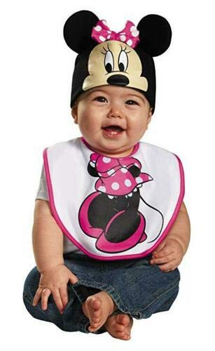 Disney Disguise Minnie Mouse Bib and Hat Set ~ case of 80 ~ Bibs in Bulk