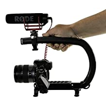 Cam Caddie Scorpion EX Video Camera Stabilizer Handle for Nikon, Canon, JVC, Toshiba, Sony, Olympus, Pentax, Apple iPhone, GoPro Hero 4, Hero 3+, Hero 3 and More - Black (0CC-0100-EX)