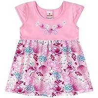 Vestido Manga Curta Bebê Menina Rosa - Brandili