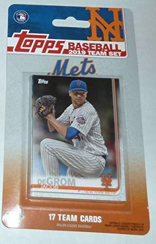 2019 Topps Factory SealedYork Mets Team Set of 17 Cards: Jacob deGrom(#NM-1), Noah Syndergaard(#NM-2), Michael Conforto(#NM-3), Yoenis Cespedes(#NM-4), Todd Frazier(#NM-5), Robinson Cano(#NM-6), Amed Rosario(#NM-7), Jeff McNeil(#NM-8), Edwin Diaz(#NM-9), Zack Wheeler(#NM-10), Steven Matz(#NM-11), Juan Lagares(#NM-12), Jason Vargas(#NM-13), Keon Broxton(#NM-14), Seth Lugo(#NM-15), Wilson Ramos(#NM-16), Brandon Nimmo(#NM-17)