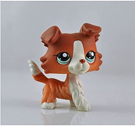 Great gifts store littlest pet shop Pet Collie Dog Child Girl Figure Cute Toy Loose by new brand