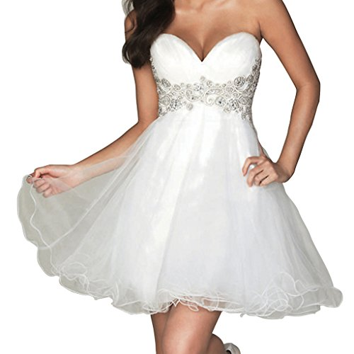 Women's Short Homecoming Sweetheart Wedding Dresses