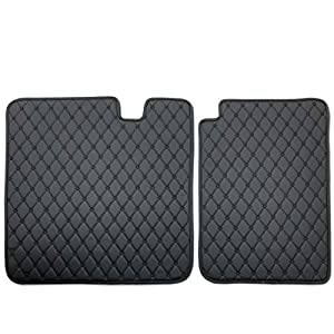 Tesla Model 3 Rear Seat Cover Mat,Black Leather HeavyDuty Cargo Liner Car Rear Seat Protector Custom Fit for Tesla Model 3,2 Piece