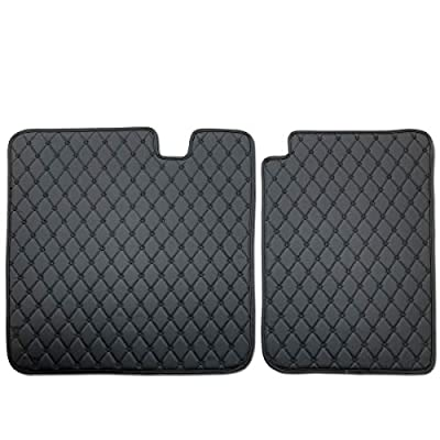 Tesla Model 3 Rear Seat Cover Mat,Black Leather HeavyDuty Cargo Liner Car Rear Seat Protector Custom Fit for Tesla Model 3,2 Piece