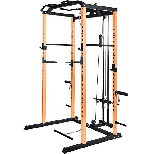 Vanswe Power Rack Power Cage 1000-Pound Capacity Home Gym Equipment
