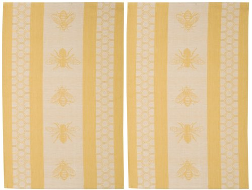 Now Designs Teatowel, Honeybee Jacquard, Set of 2 - Jacquard Tea Towels