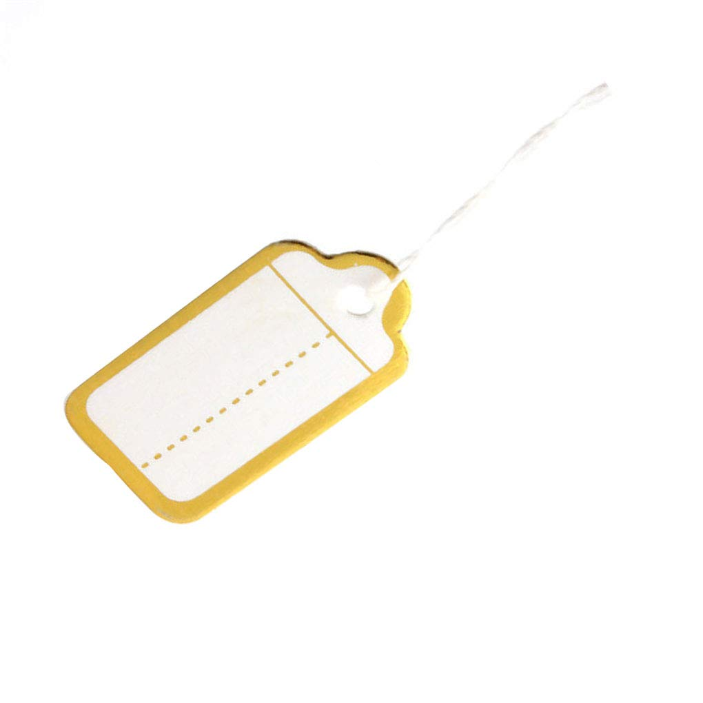 Cdrox 500pcs Papel de Oro Borde de la Etiqueta Corbata de Lazo ...