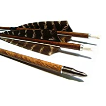 Archery Hunting Carbon Fiber arrows, MS Carbon Fiber arrow Spine 400 with Replacement Screw-In 100 Grain Points And 4 Inch Real Feather For Compound Bow Recurve And Long Bow 6 Pack