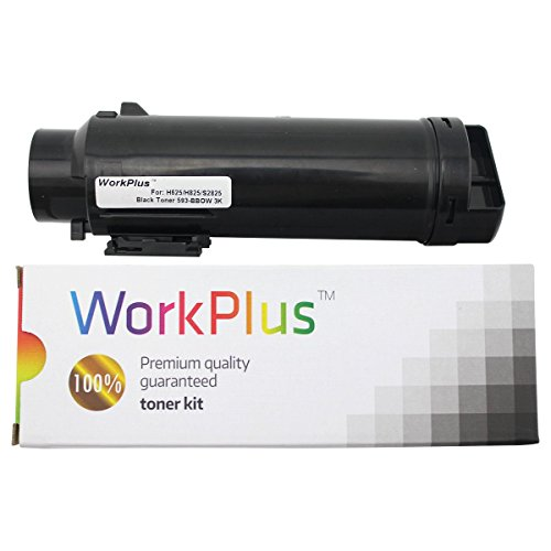 WorkPlus High Yield Dell Toners Compatible for H625cdw, H825cdw, S2825cdn Printers (Black 593-BBOW)