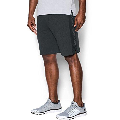 Under Armour Men's Sportstyle Fleece Graphic Shorts, Black /Graphite, Medium