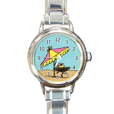 Snoopy The Peanuts Woodstock Relaxing Rectangle Italian Charm Watch