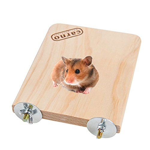 Wooden Platform Pet Dwarf Hamster Gerbil Rat Small Animal Sport Exercise Toy Pet Parrot Bird Cage Perches Square Toy (S)