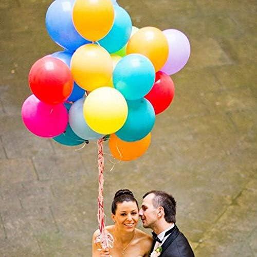 【陌の街角】 200個10インチ の風船 ゴムバルーンは誕生日パーティークリスマス結婚式と祝日に適用されますさまざまな色