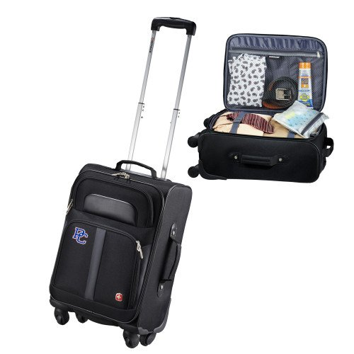 Presbyterian College Wenger 4 Wheeled Spinner Black Carry On 'PC' by CollegeFanGear