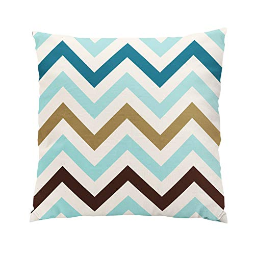 Solid Gold Animal Skin Cream - Suklly Zigzag Cream Teals Gold Brown Romantic Hidden Zipper Home Sofa Decorative Throw Pillow Cover Cushion Case 18x18 Inch Square Two Sides Design Printed Pillowcase
