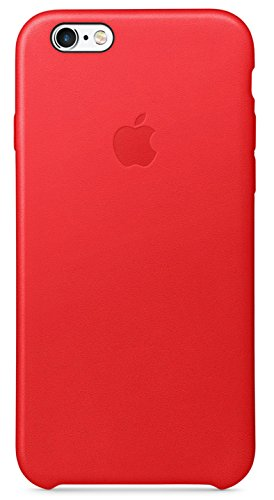 Apple Authentic Leather Case for iPhone 6 and iPhone 6s – Red (Certified Refurbished)
