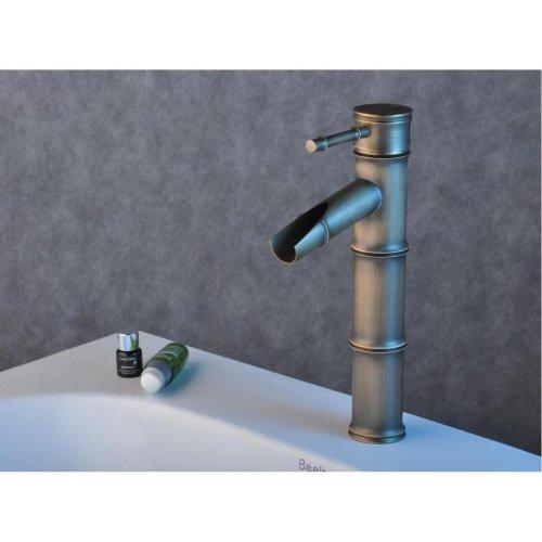 Bamboo Bath Vessel Sink (Lightinthebox One Single Handle Deck Mount Centerset Bath Mixer Taps Bathroom Sink Faucet Oil Rubbed Lavatory Bamboo Basin Faucets Bronze Plumbing Fixtures Single Hole Tall Spout Faucets)