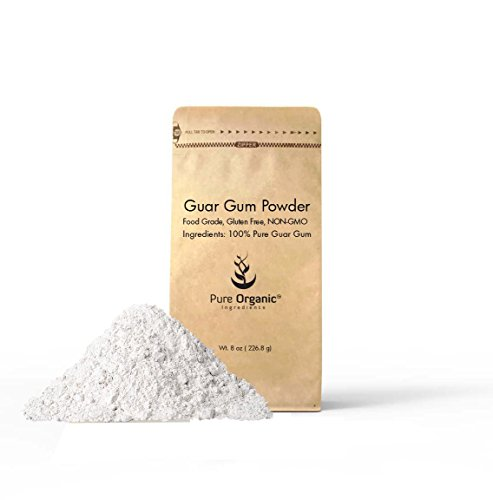 Guar Gum - Pure Organic Ingredients Guar Gum Powder, 100% Food Grade, Gluten Free, Non-GMO,Thickening Agent (8 oz (.5 lbs))