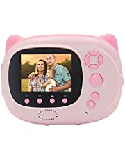 Mainstayae Mini Cute Cartoon Children Video Camera Camcorder Photo Printing 15 Mega Pixels 1080P with 2.4 Inch TFT IPS Screen Flash Mode Support WiFi Connection Instant Printing Sharing Gifts
